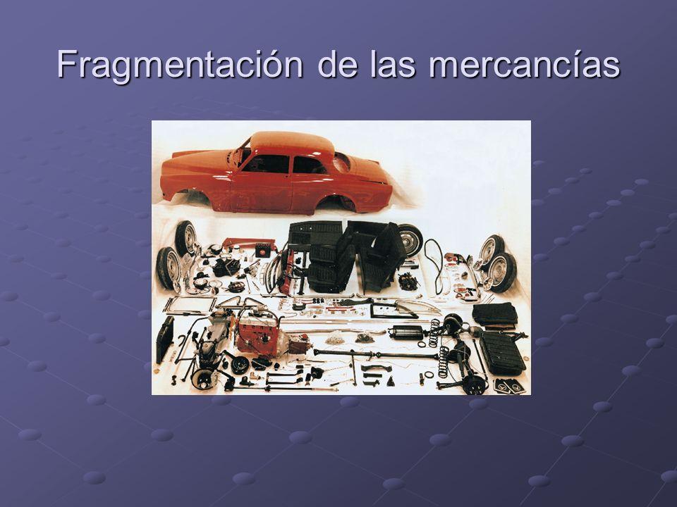 Fragmentación de las mercancías