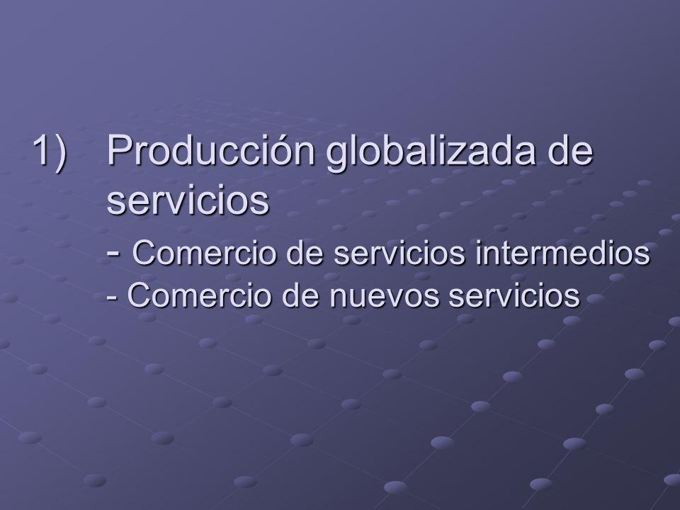 Producción globalizada de servicios - Comercio de servicios intermedios - Comercio de nuevos servicios