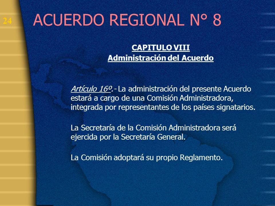 Administración del Acuerdo