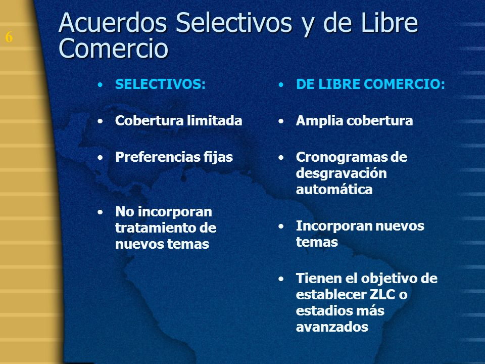 Acuerdos Selectivos y de Libre Comercio