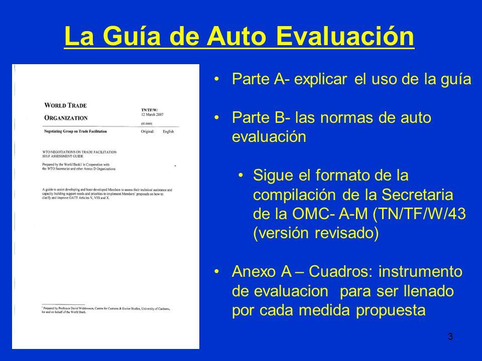 La Guía de Auto Evaluación