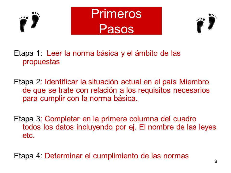 Primeros Pasos Etapa 1: Leer la norma básica y el ámbito de las propuestas.