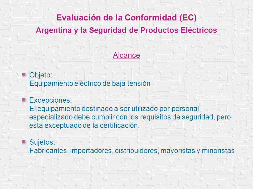 Evaluación de la Conformidad (EC)