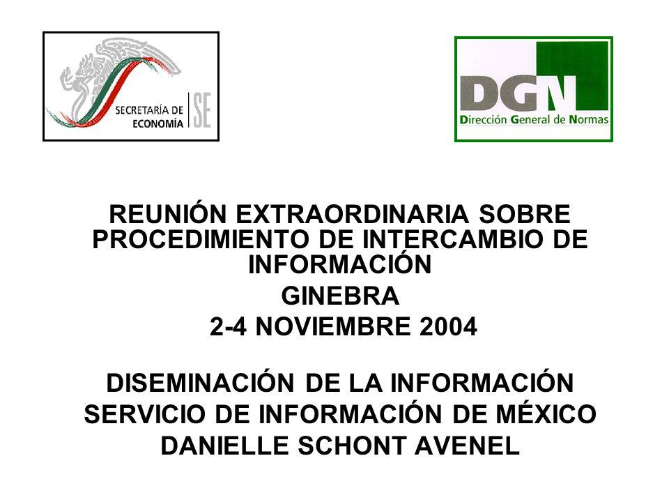 DISEMINACIÓN DE LA INFORMACIÓN SERVICIO DE INFORMACIÓN DE MÉXICO