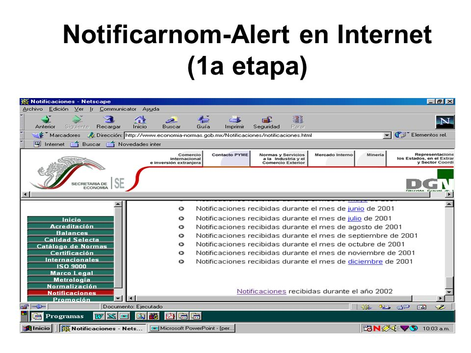 Notificarnom-Alert en Internet (1a etapa)