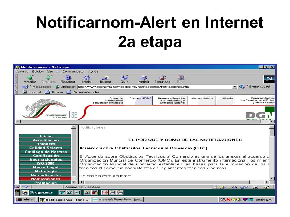 Notificarnom-Alert en Internet 2a etapa