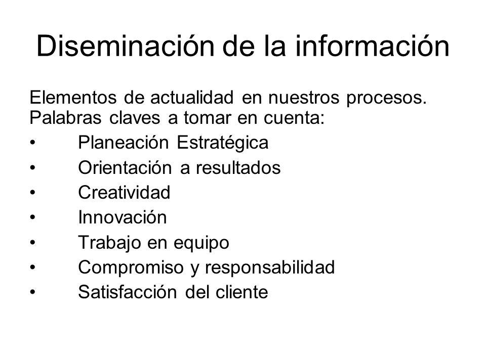 Diseminación de la información