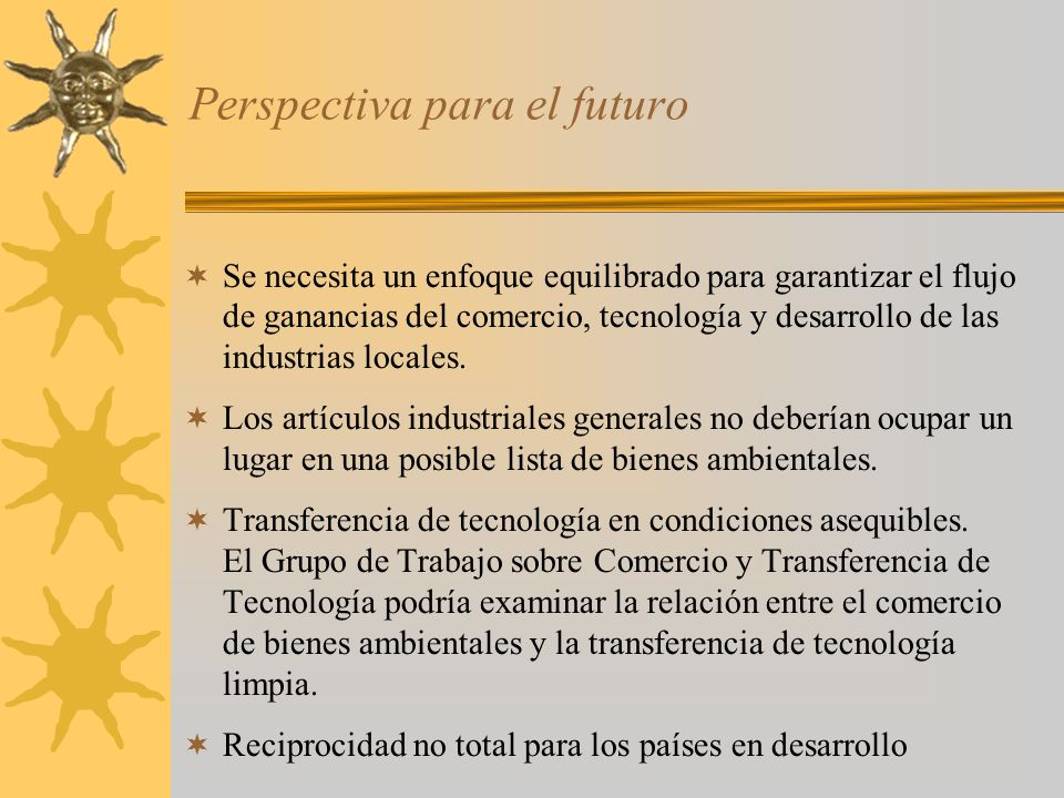 Perspectiva para el futuro