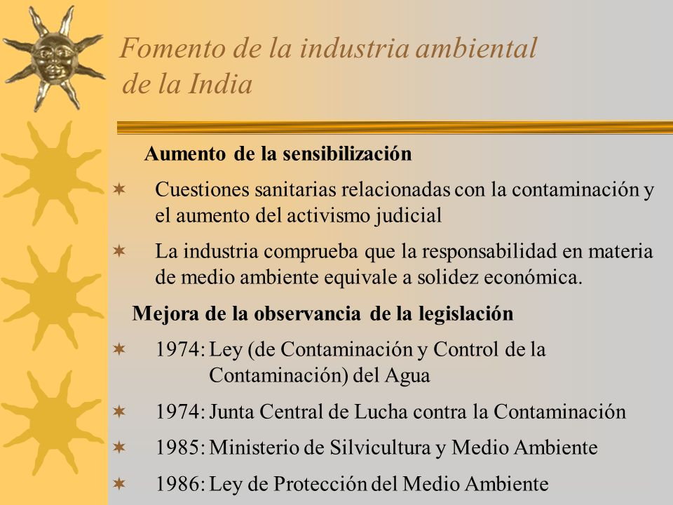 Fomento de la industria ambiental de la India