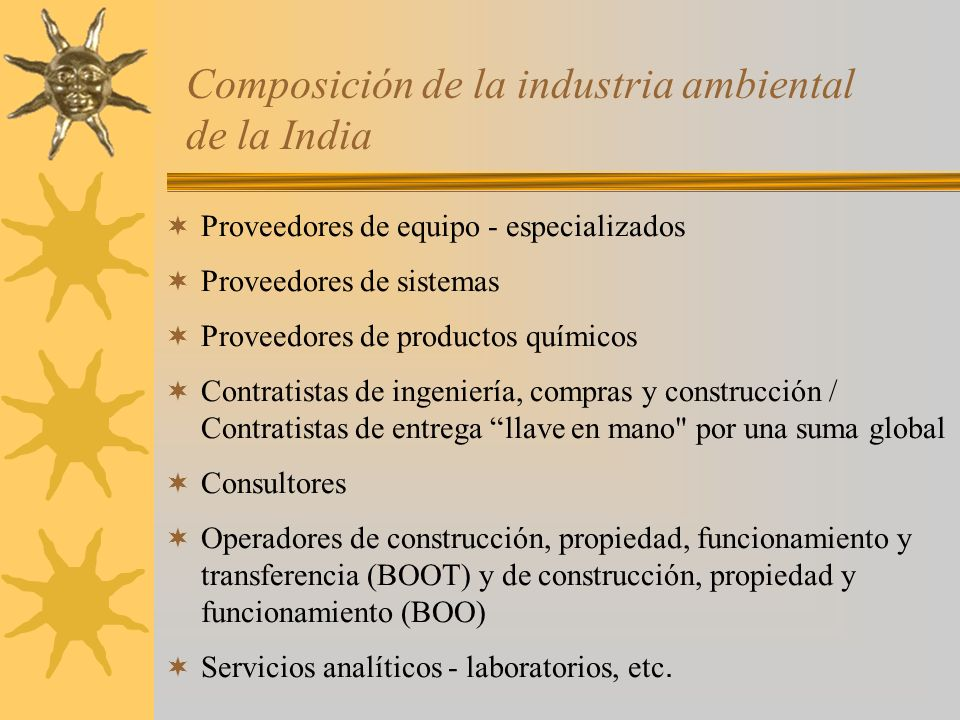 Composición de la industria ambiental de la India