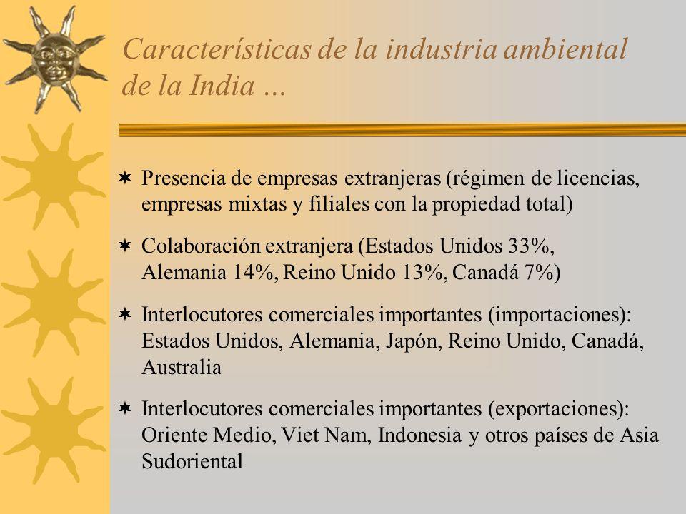 Características de la industria ambiental de la India …