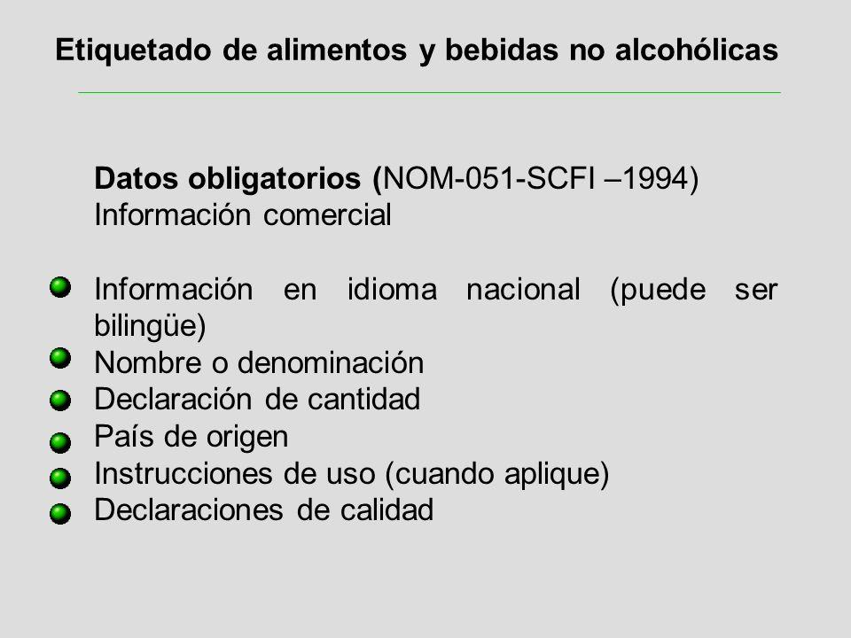 Etiquetado de alimentos y bebidas no alcohólicas