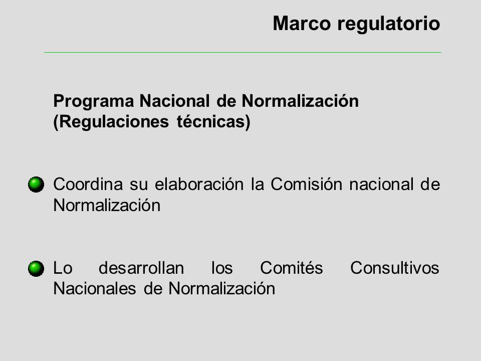 Marco regulatorio Programa Nacional de Normalización