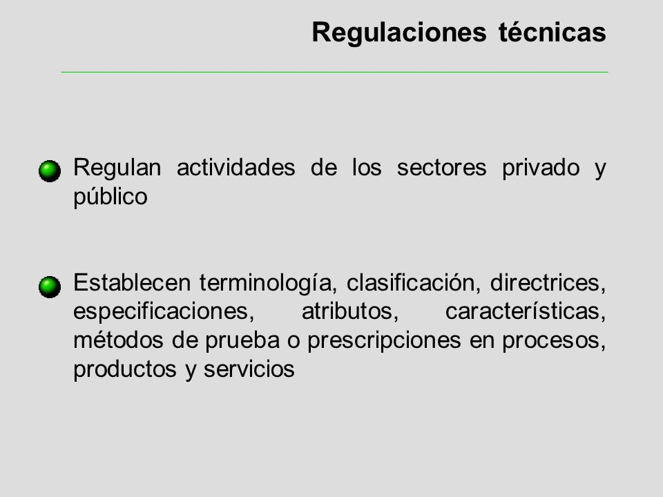 Regulaciones técnicas