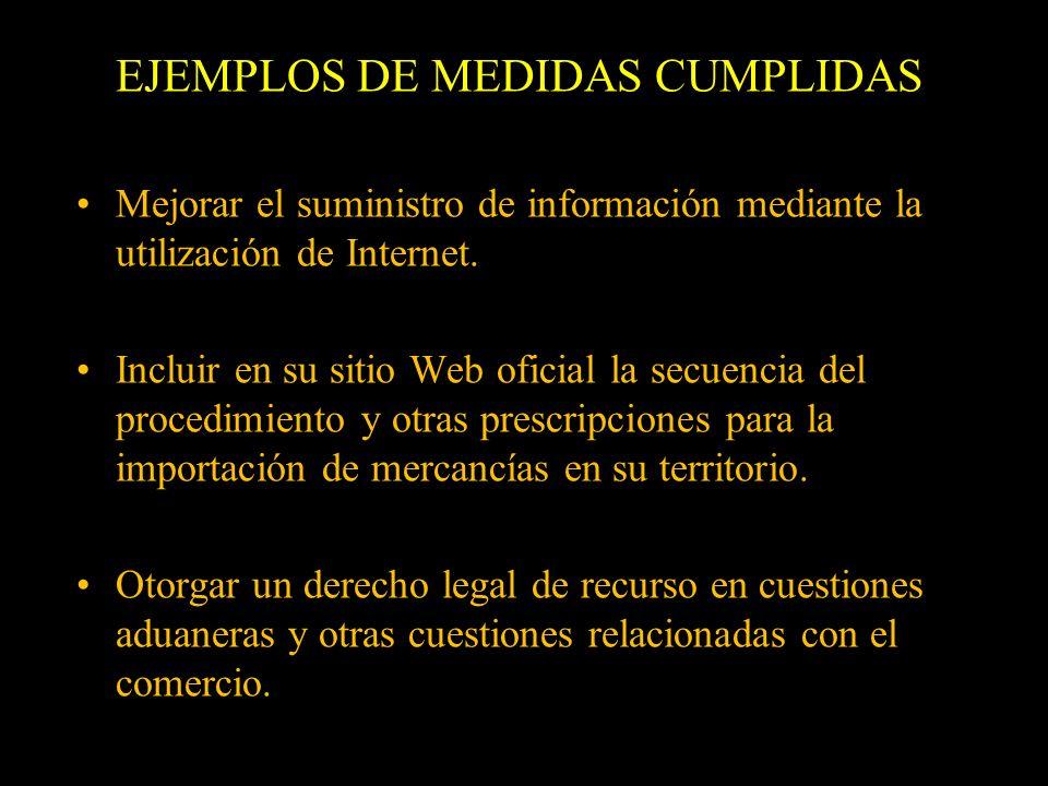 EJEMPLOS DE MEDIDAS CUMPLIDAS