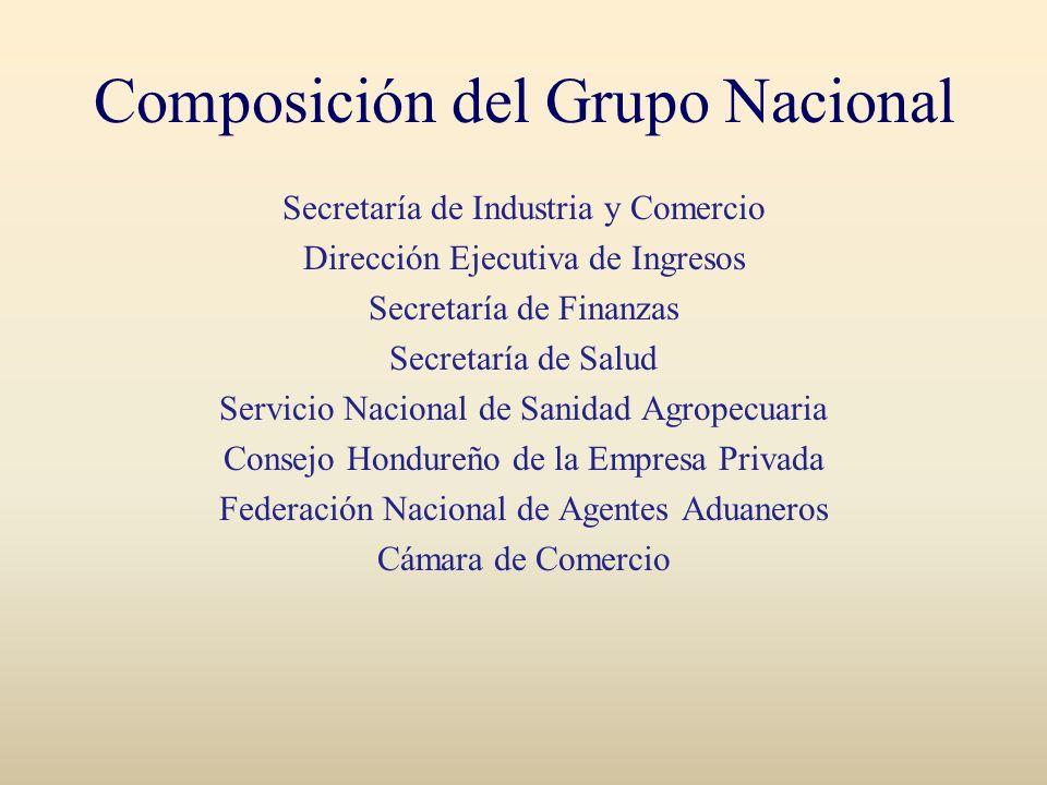 Composición del Grupo Nacional