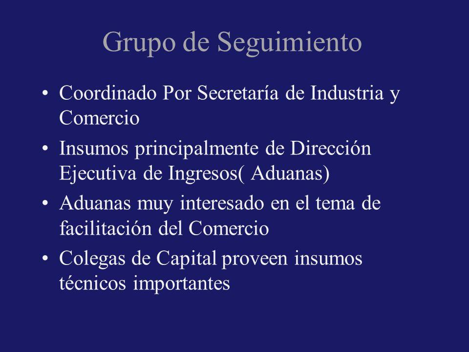 Grupo de Seguimiento Coordinado Por Secretaría de Industria y Comercio