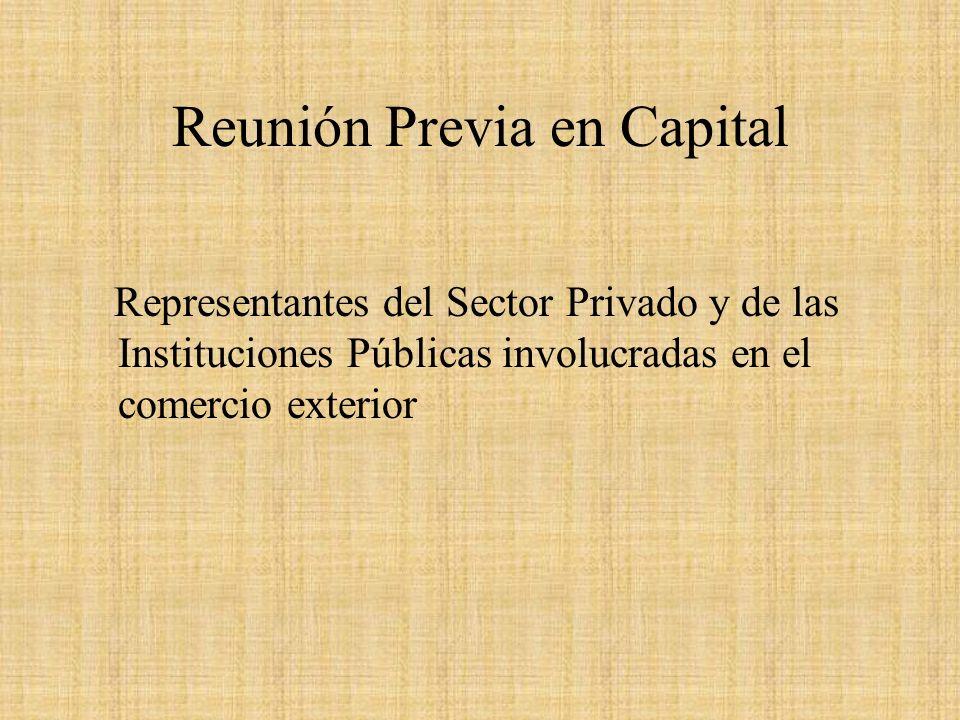 Reunión Previa en Capital