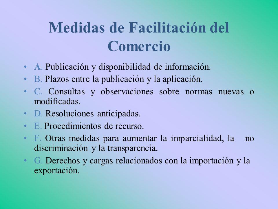 Medidas de Facilitación del Comercio