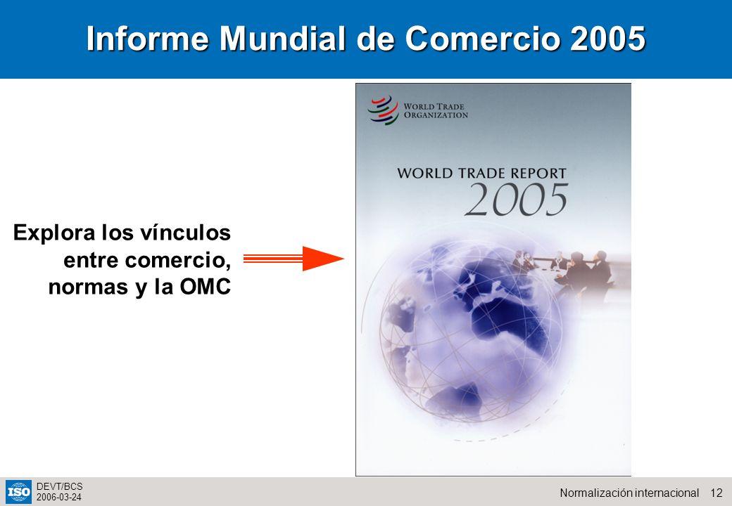Informe Mundial de Comercio 2005