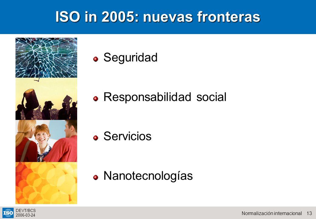 ISO in 2005: nuevas fronteras