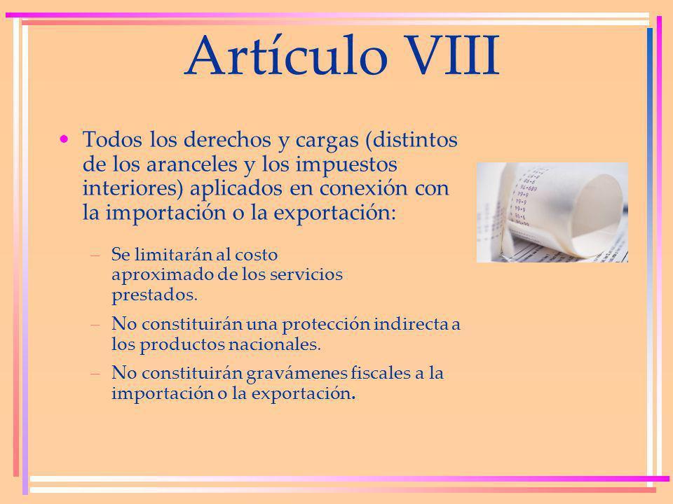 Artículo VIII