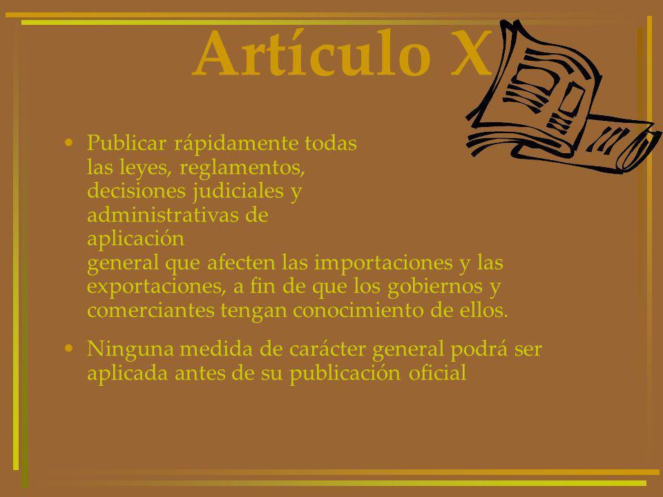Artículo X