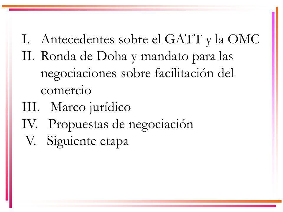 I. Antecedentes sobre el GATT y la OMC