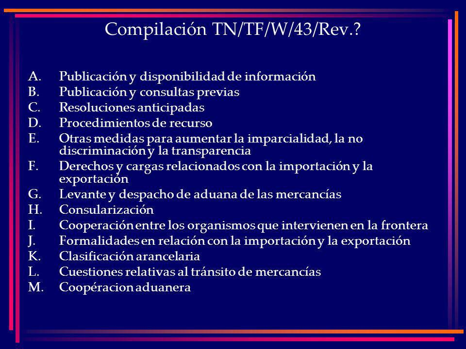 Compilación TN/TF/W/43/Rev.
