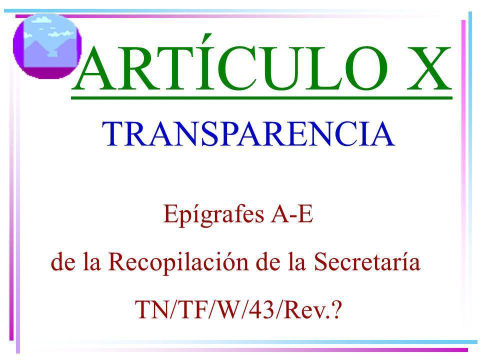 de la Recopilación de la Secretaría