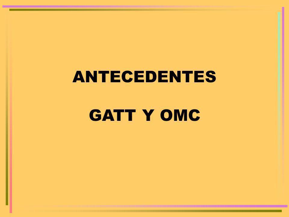 ANTECEDENTES GATT Y OMC