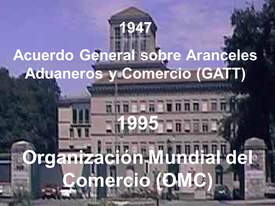 1995 Organización Mundial del Comercio (OMC)