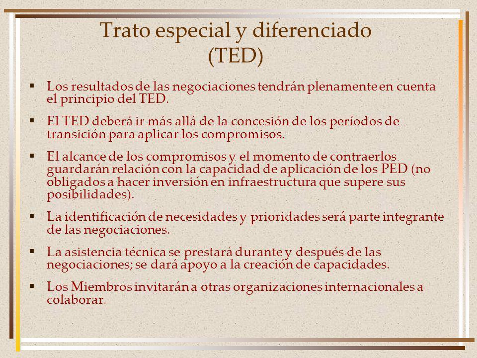 Trato especial y diferenciado (TED)