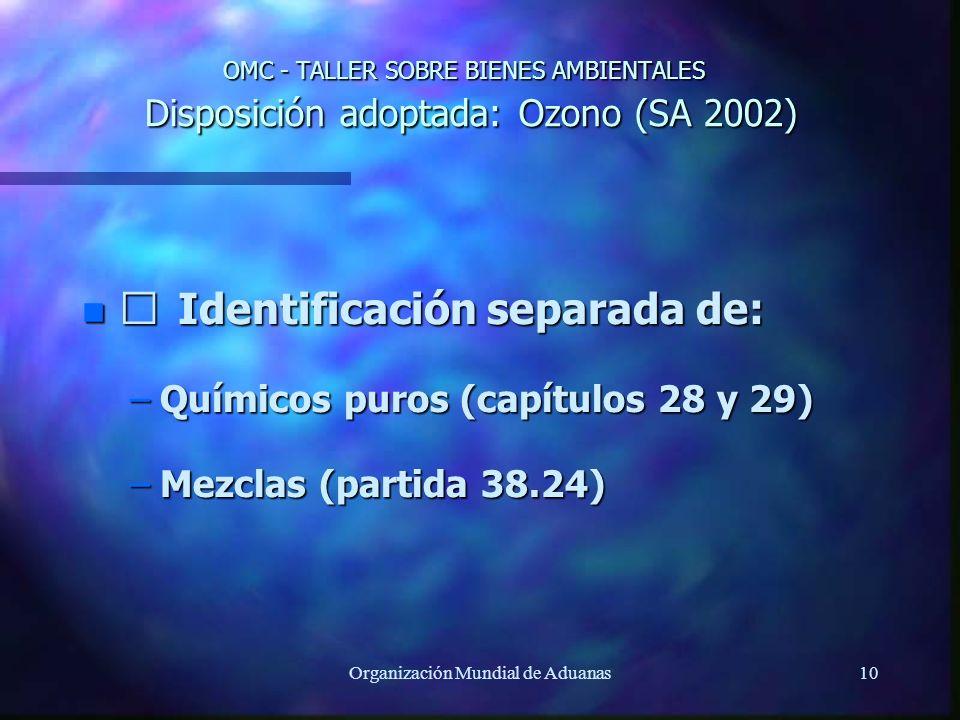 Organización Mundial de Aduanas