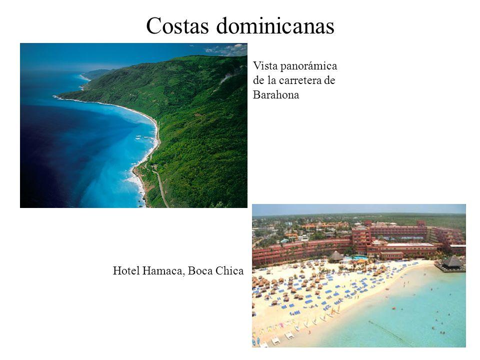 Costas dominicanas Vista panorámica de la carretera de Barahona