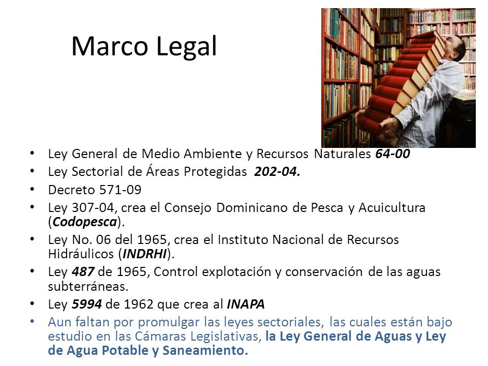 Marco Legal Ley General de Medio Ambiente y Recursos Naturales 64-00
