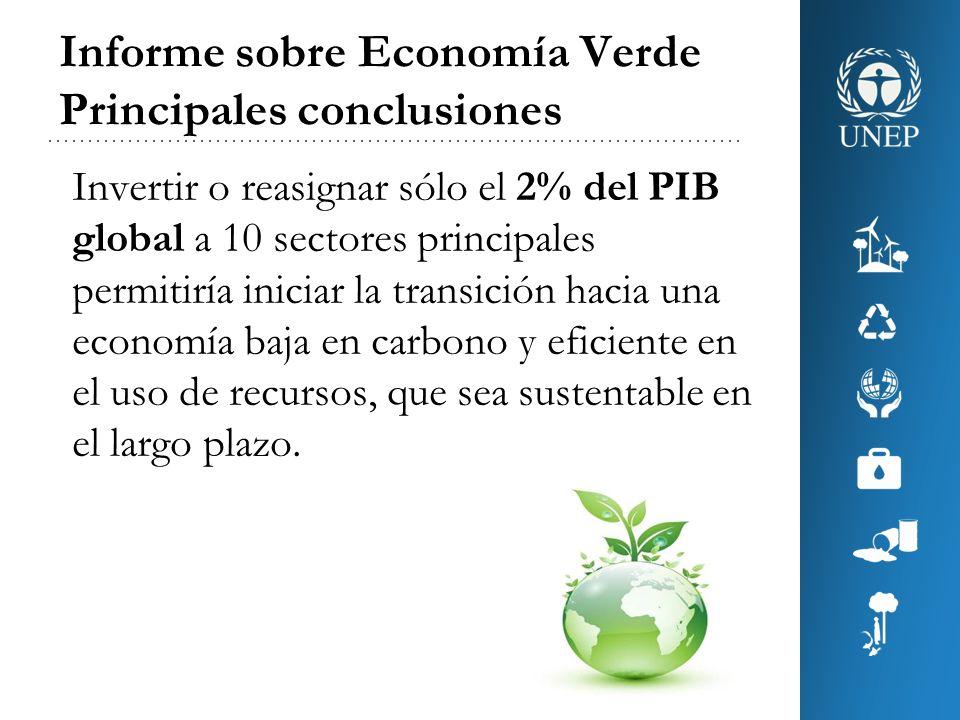 Informe sobre Economía Verde Principales conclusiones