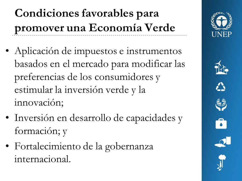Condiciones favorables para promover una Economía Verde