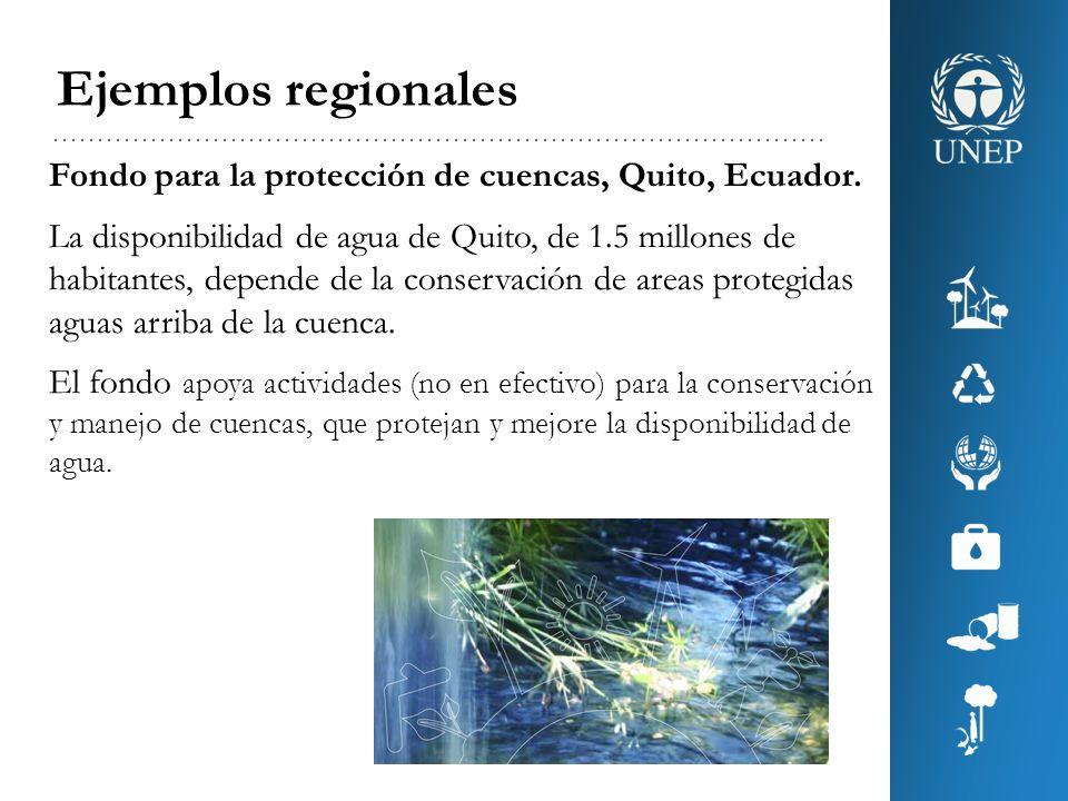 Ejemplos regionales Fondo para la protección de cuencas, Quito, Ecuador.