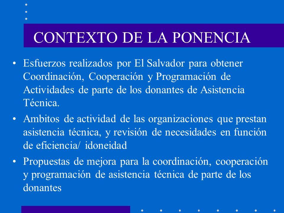CONTEXTO DE LA PONENCIA
