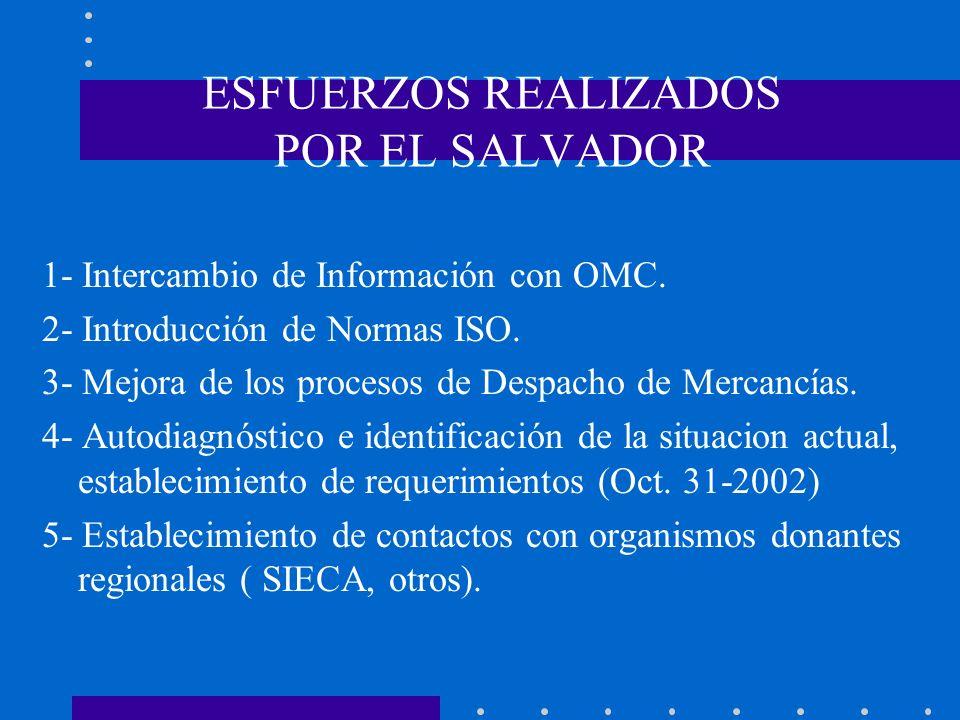 ESFUERZOS REALIZADOS POR EL SALVADOR