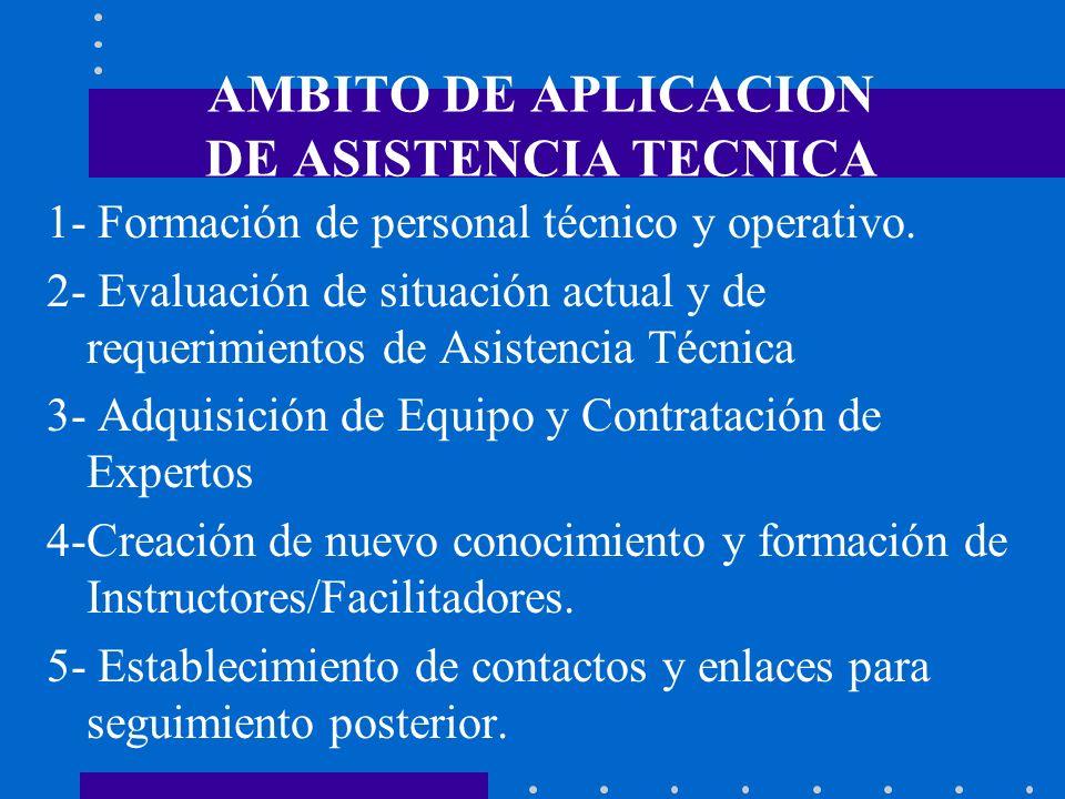 AMBITO DE APLICACION DE ASISTENCIA TECNICA