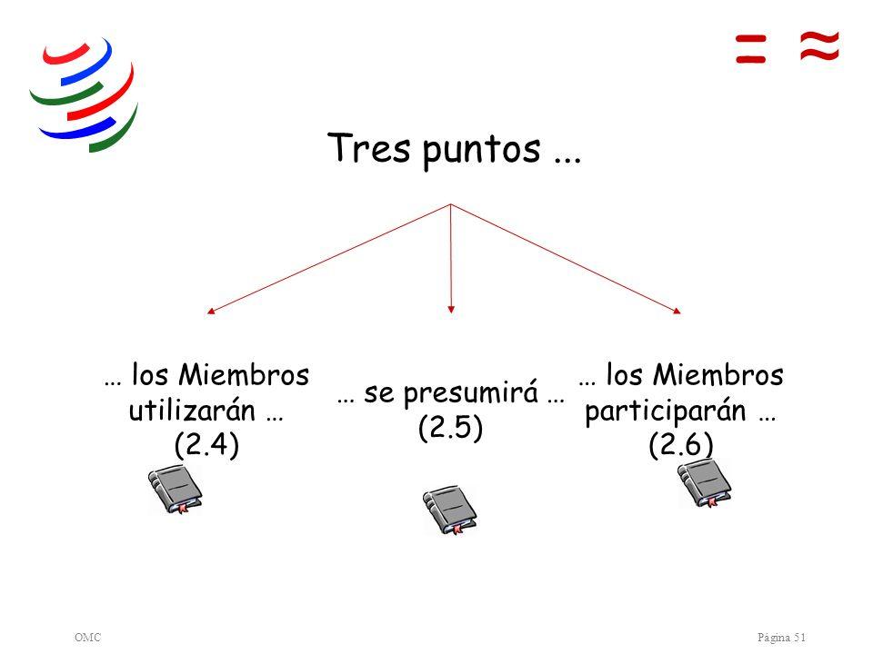 = ≈ Tres puntos ... … los Miembros utilizarán … (2.4)