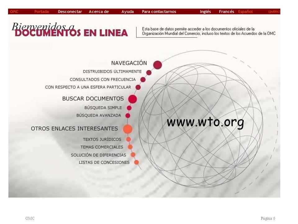www.wto.org OMC Página 6