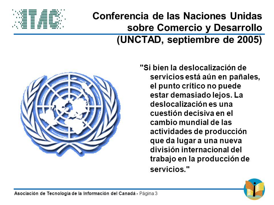 Conferencia de las Naciones Unidas sobre Comercio y Desarrollo (UNCTAD, septiembre de 2005)