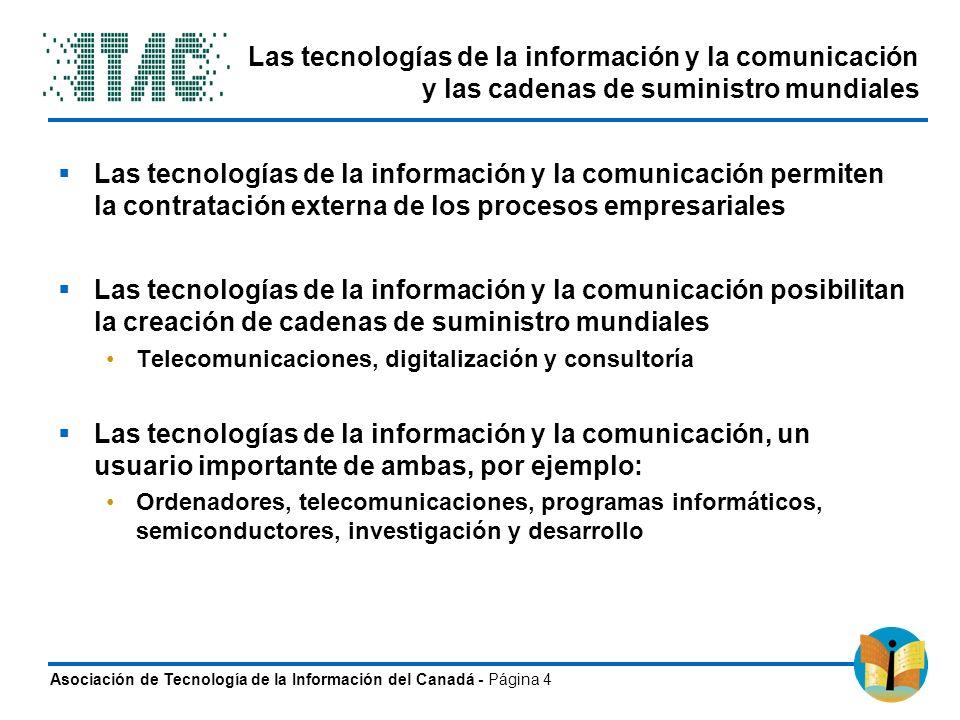 Las tecnologías de la información y la comunicación y las cadenas de suministro mundiales