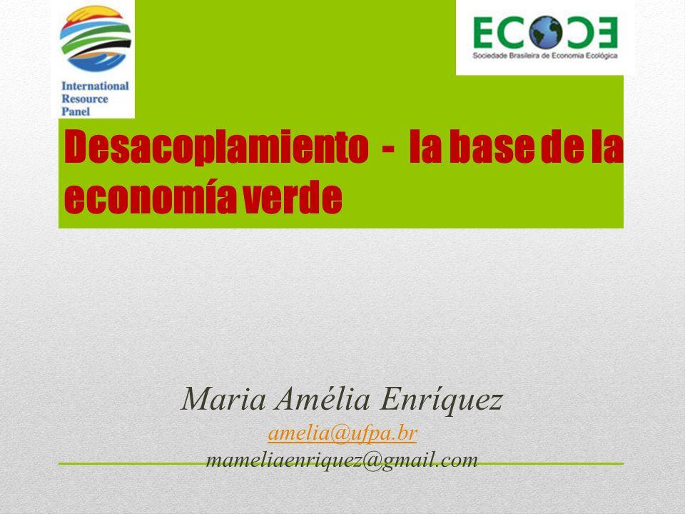 Desacoplamiento - la base de la economía verde