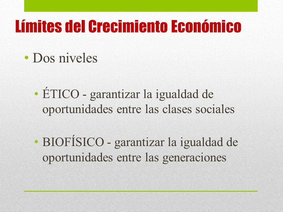 Límites del Crecimiento Económico