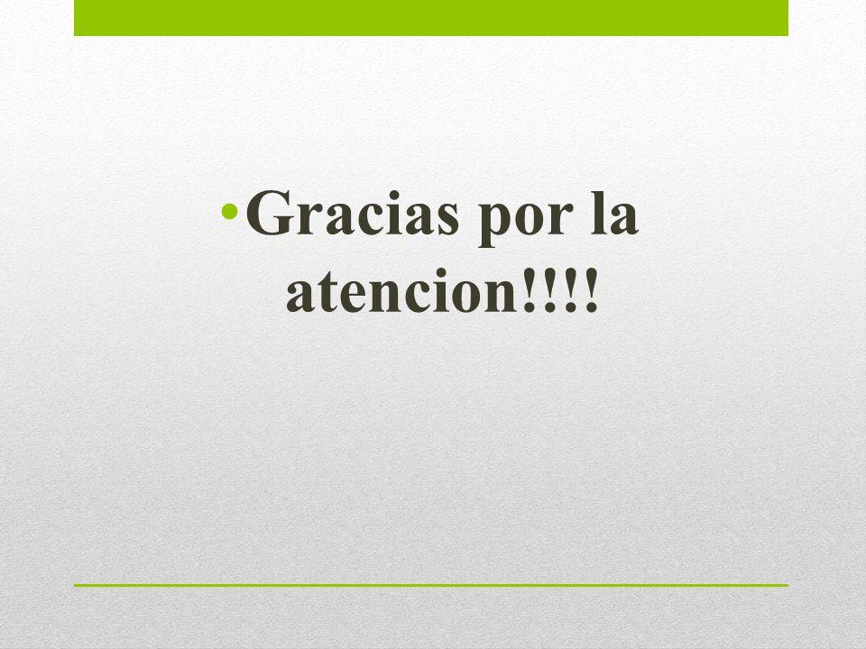 Gracias por la atencion!!!!