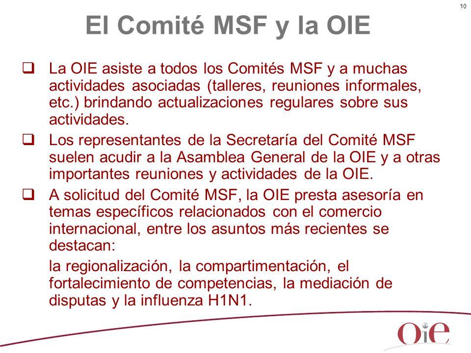 El Comité MSF y la OIE